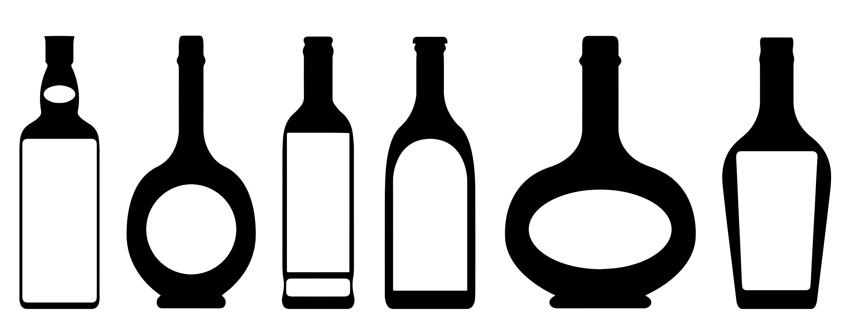 Rum Bottle Clipart.