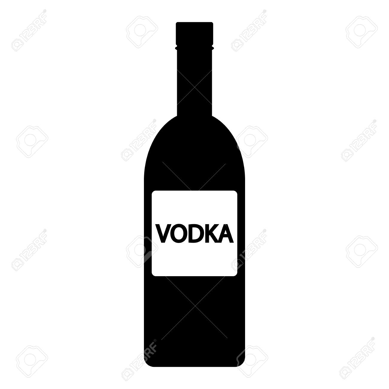 Clipart Vodka Bottle.