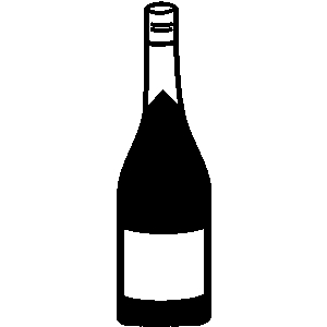 Liquor Bottle Black And White Clipart.
