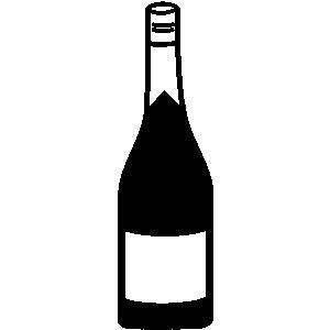 Liquor Bottle Black And White Clipart.