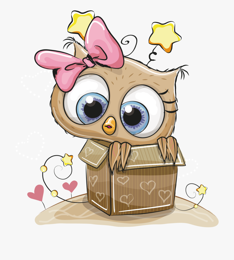 Box Owl Coloring Gift Book Child Drawing Clipart.
