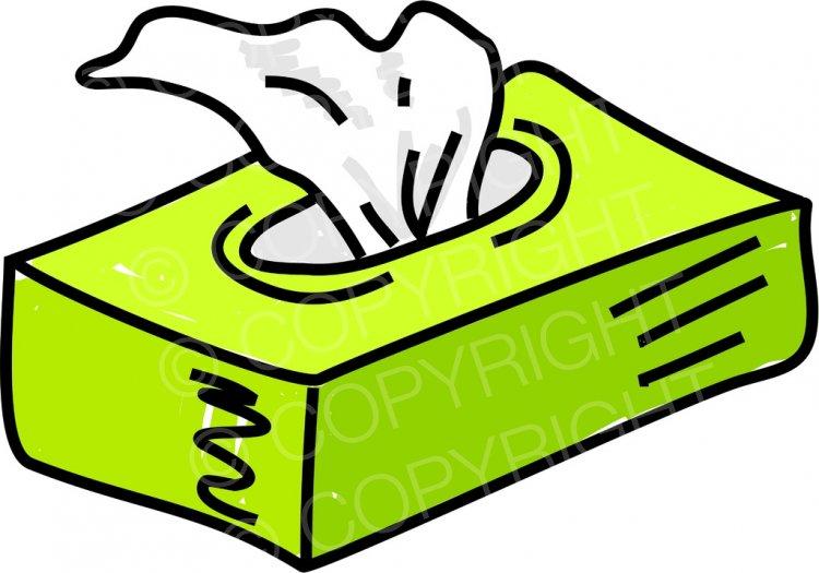 Box of Tissues Prawny Clip Art.