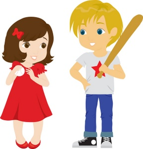 Boy And Girl Clipart Image.