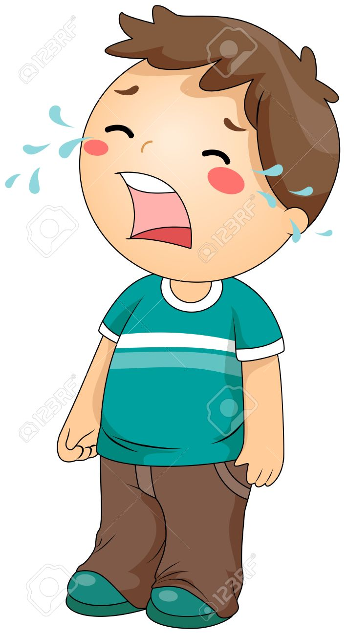 A Boy Crying Clipart.