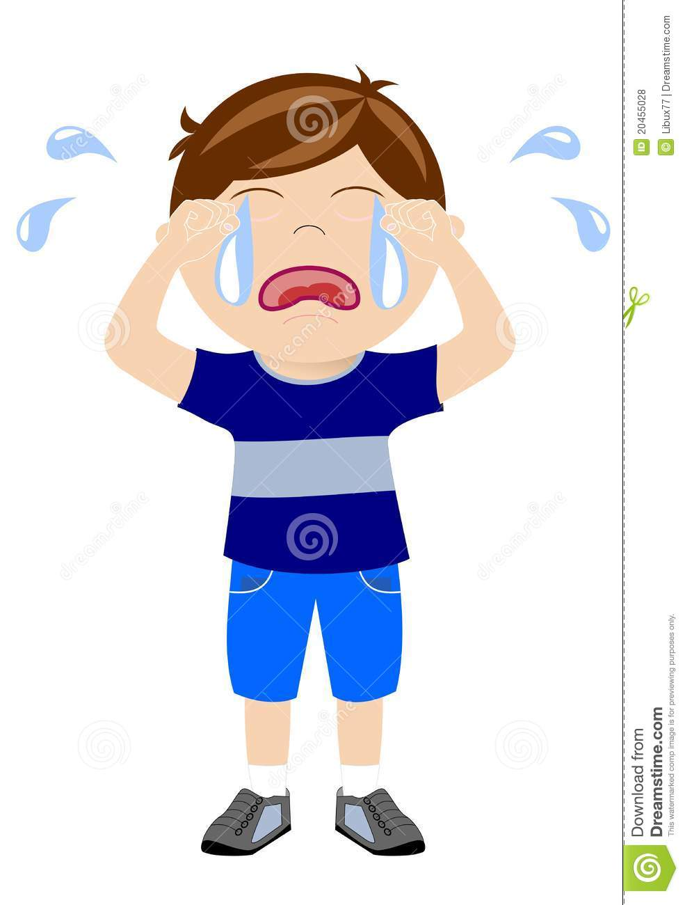 Boy crying clipart 7 » Clipart Station.