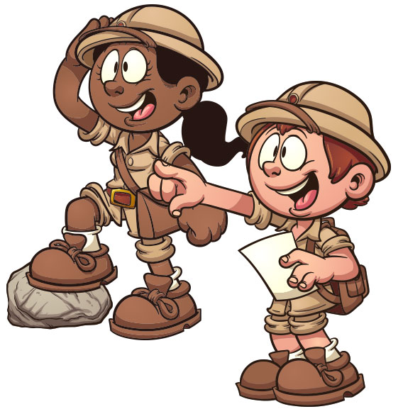 Treasure Hunting Clipart.