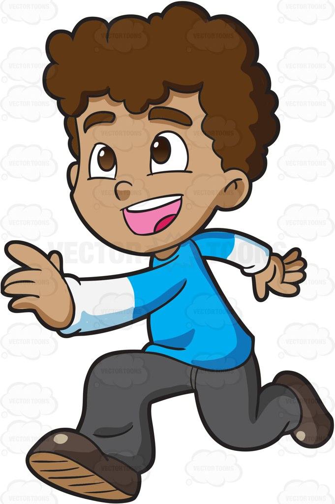 A Boy Running Clipart.