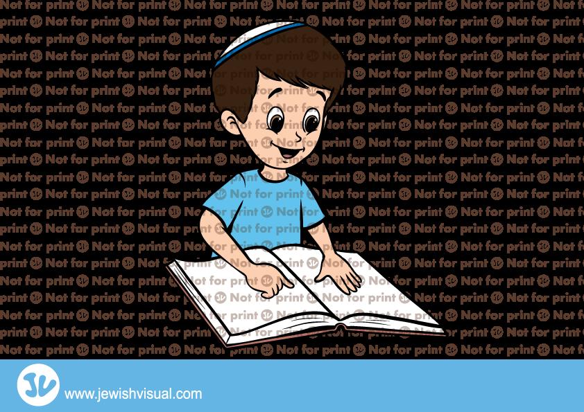 Boy Learning Torah.