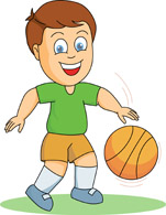 Boy Playing Ball Clipart.