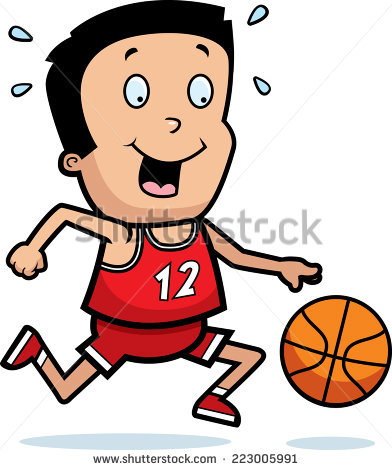 Cartoon Boy Basketball Player Stock Vector 155470262.