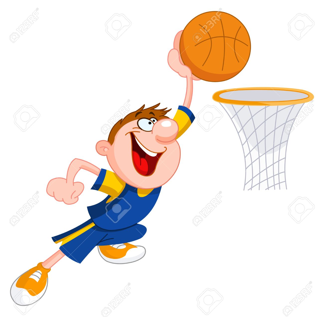 Basketball Kid Royalty Free Cliparts, Vectors, And Stock.