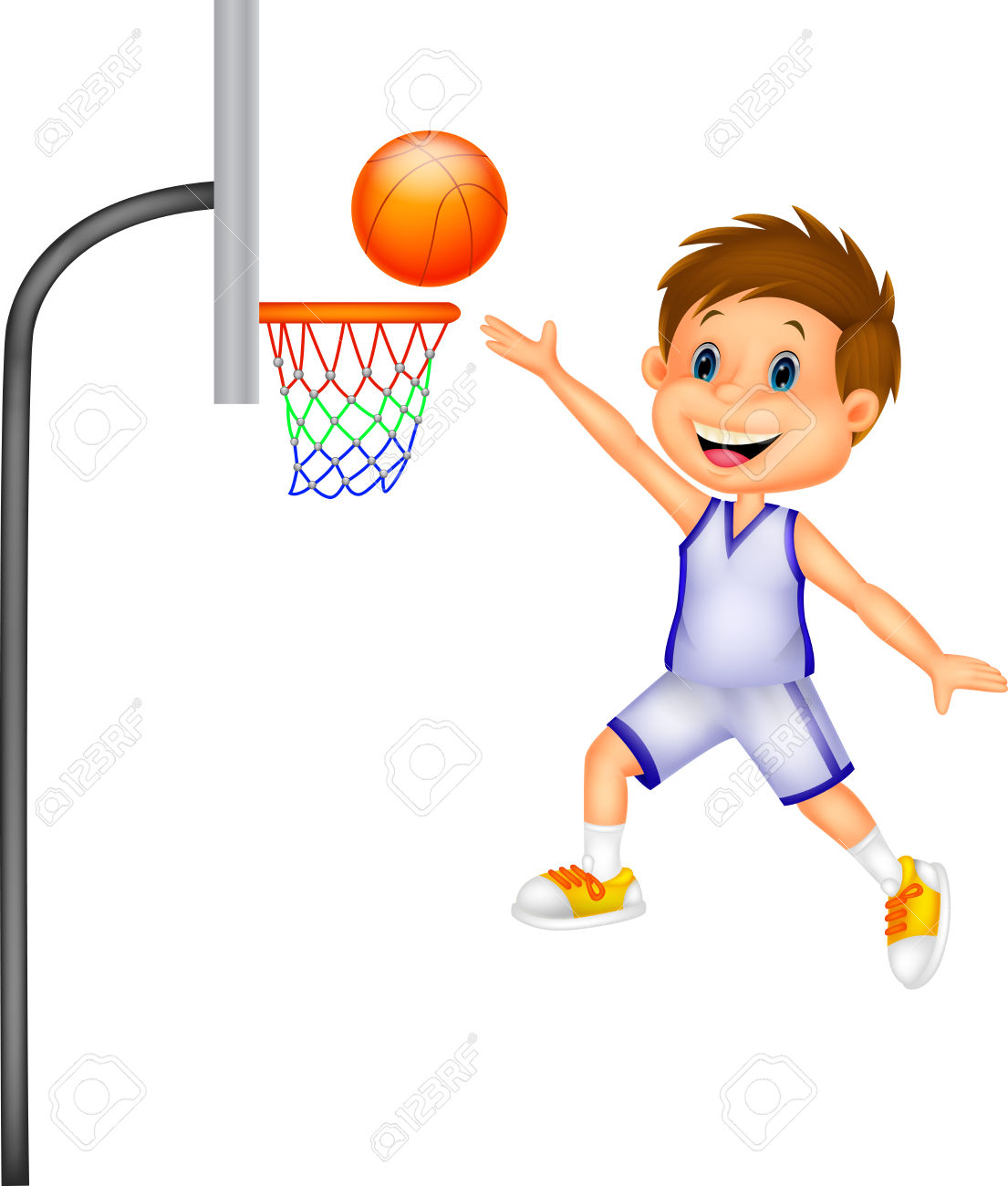 a boy playing basketball clipart - Clipground