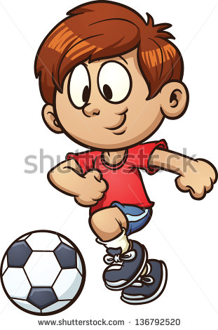 Soccer Cartoon Stock Images, Royalty.