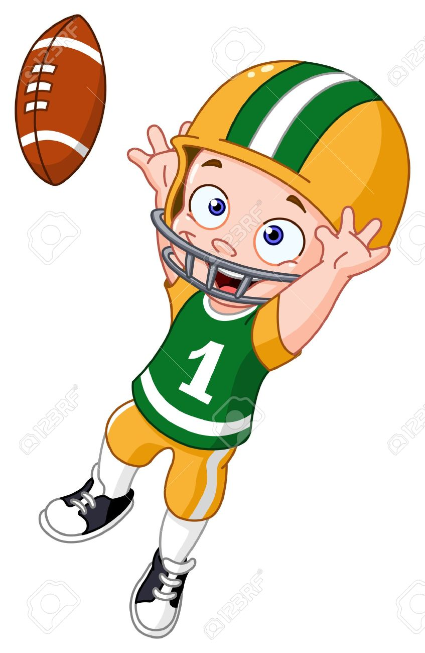 Cartoon Football Player Images & Stock Pictures. Royalty Free.