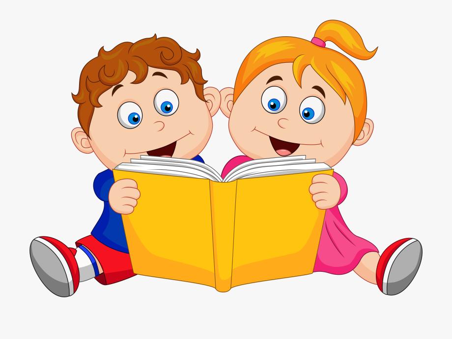 Children Reading Bookscartoongoogle.