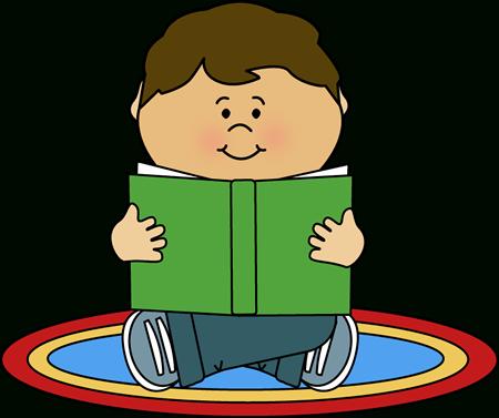Hispanic Boy Reading Clipart.