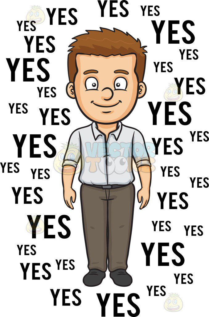 Person Saying Yes Clipart.