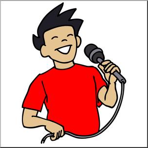 Clip Art: Boy Singing Color I abcteach.com.