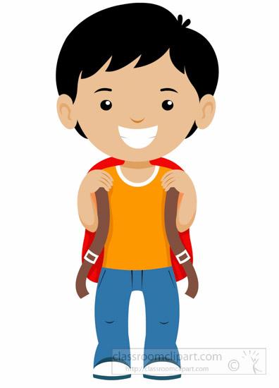Little Boy Standing Clipart.