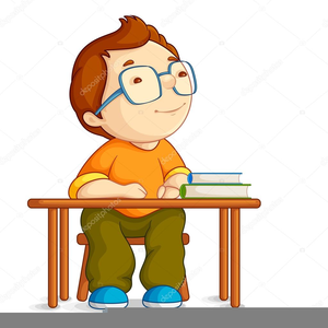 Studying Boy Clipart.