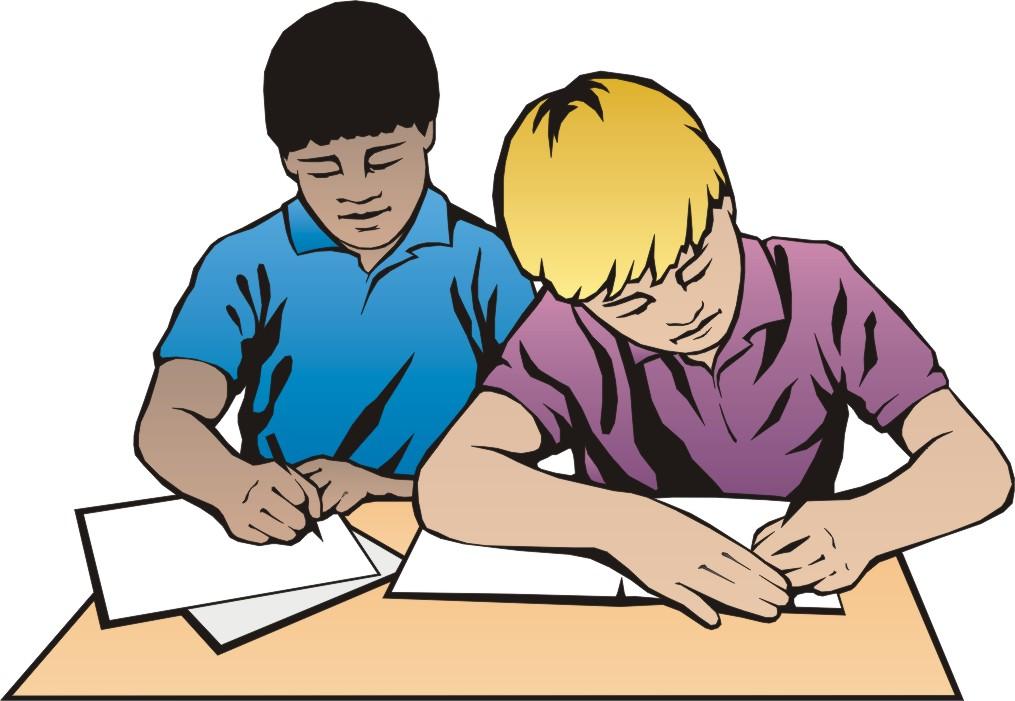 black kids studying stock clipart #9