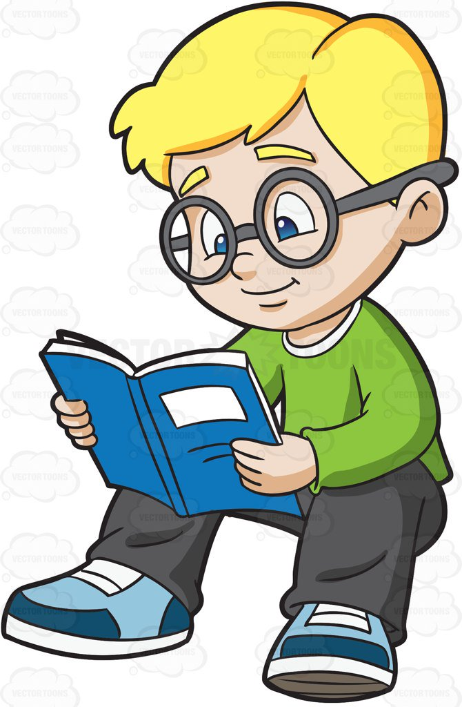 Boy Studying Clipart.