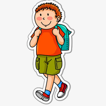 Little Boy Walking Clipart.