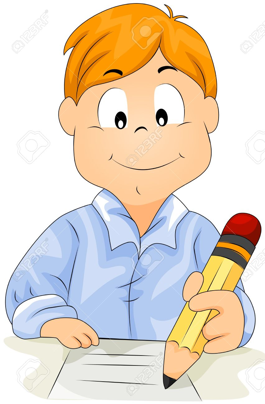 Boy writing clipart 5 » Clipart Station.