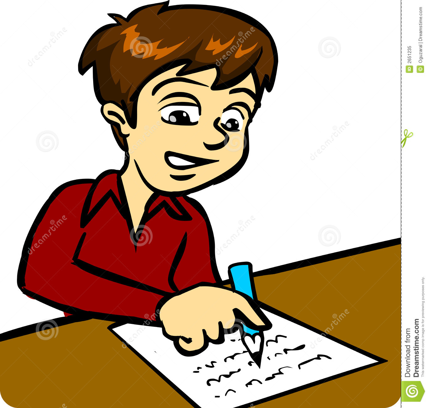 Free Boy And Girl Writing Clipart, Download Free Clip Art.
