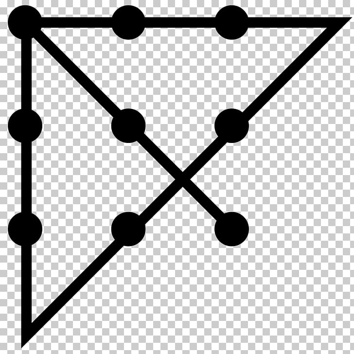 Think outside the box Logic puzzle Connect the dots Thought.