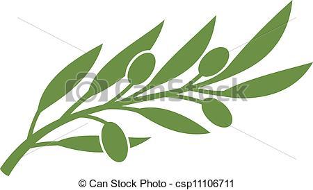 Vector Clip Art of olive branch (olive symbol) csp11106711.