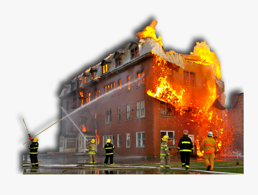Building On Fire Png.