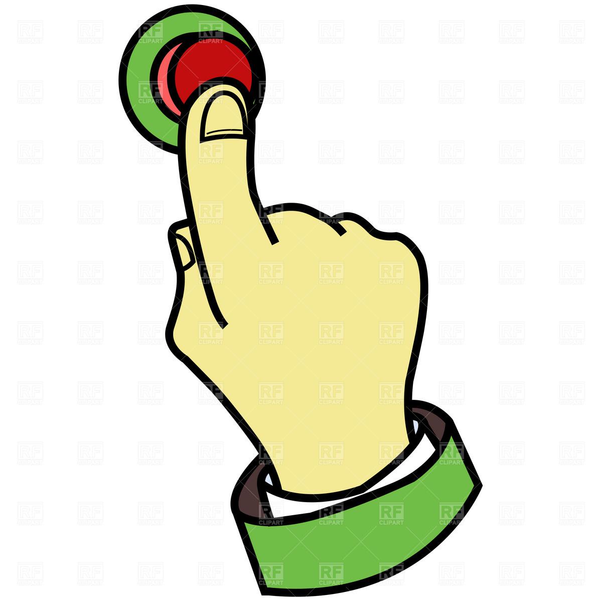 Press Button Clipart.