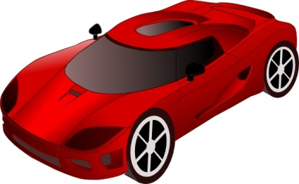 Sports Car clip art free vector.