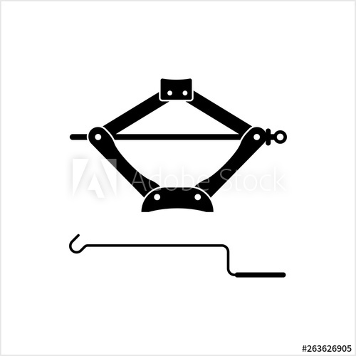 Car Jack Icon, Mechanical Jack Icon.
