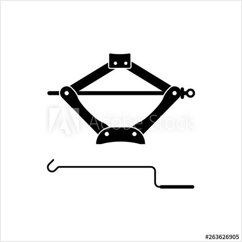 Car Jack Icon, Mechanical Jack Icon.