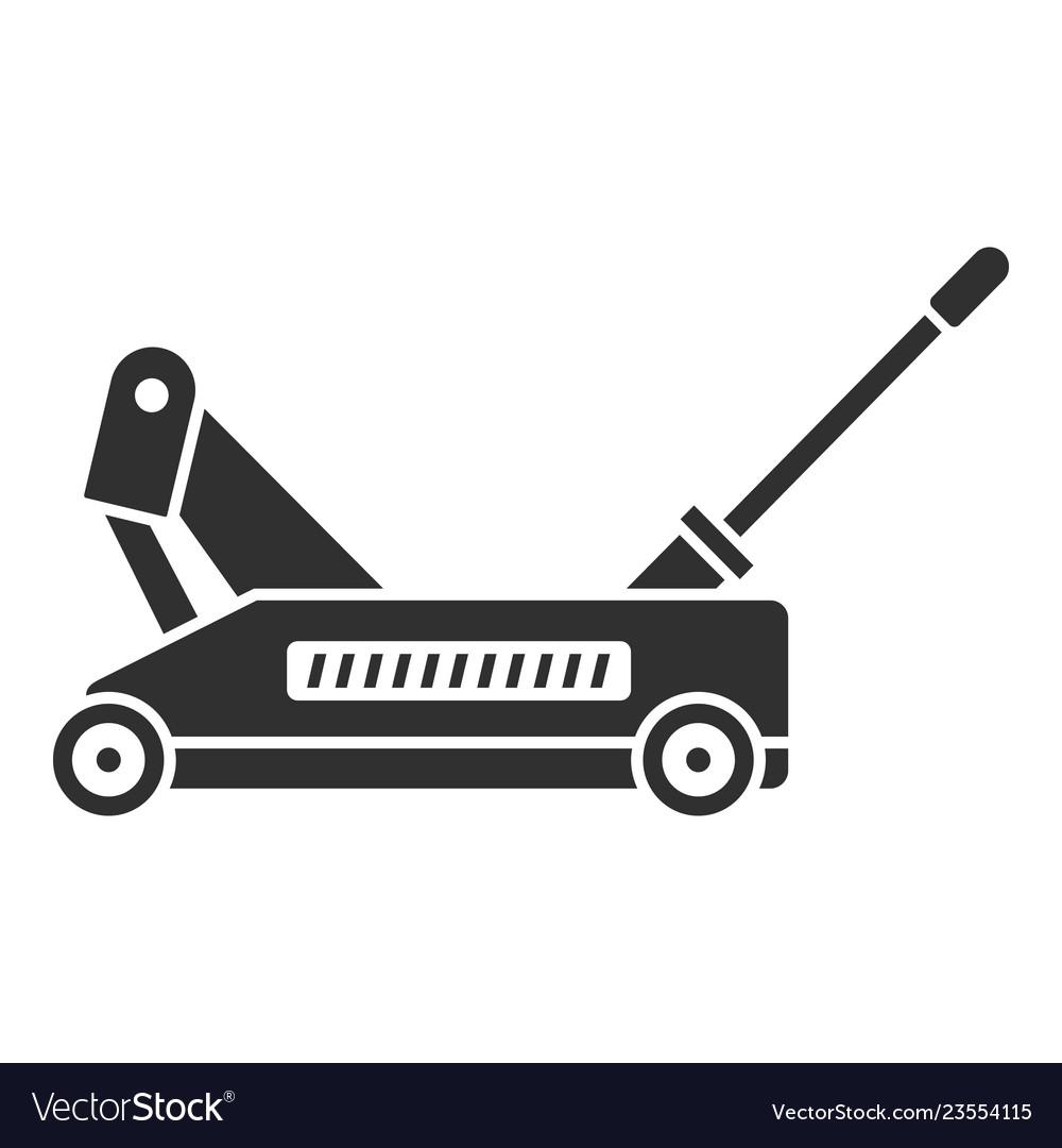 Car wheel jack icon simple style.
