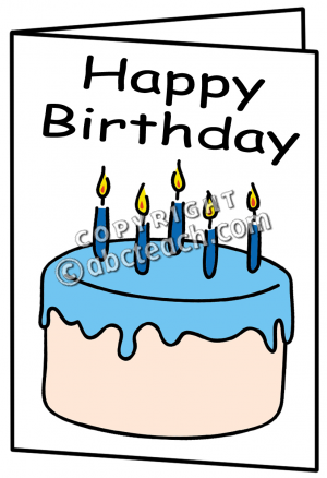 Clipart Birthday Card.