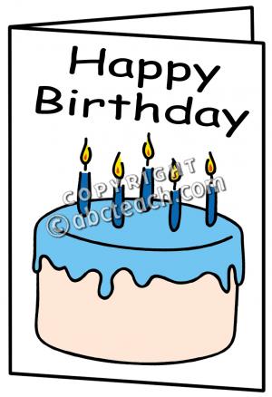 Clipart Birthday Card.