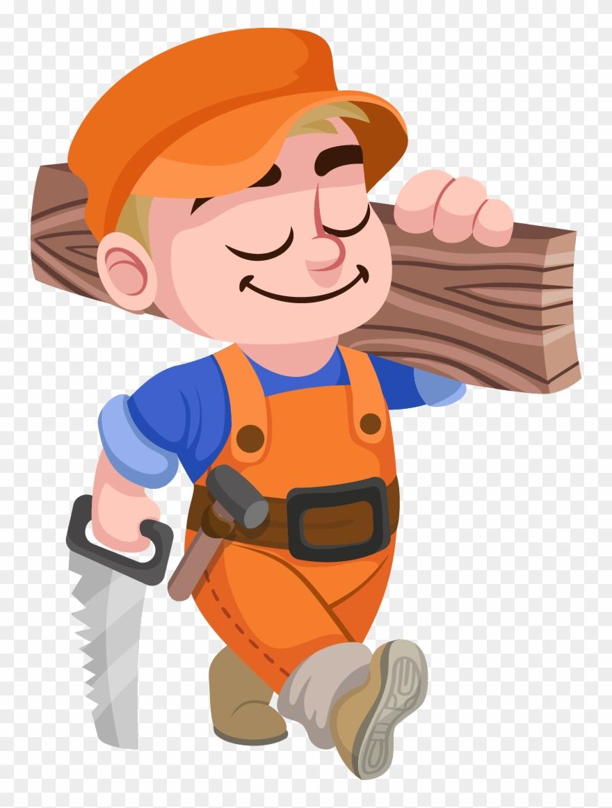 Vector Royalty Free Carpenter Clipart Contractor.