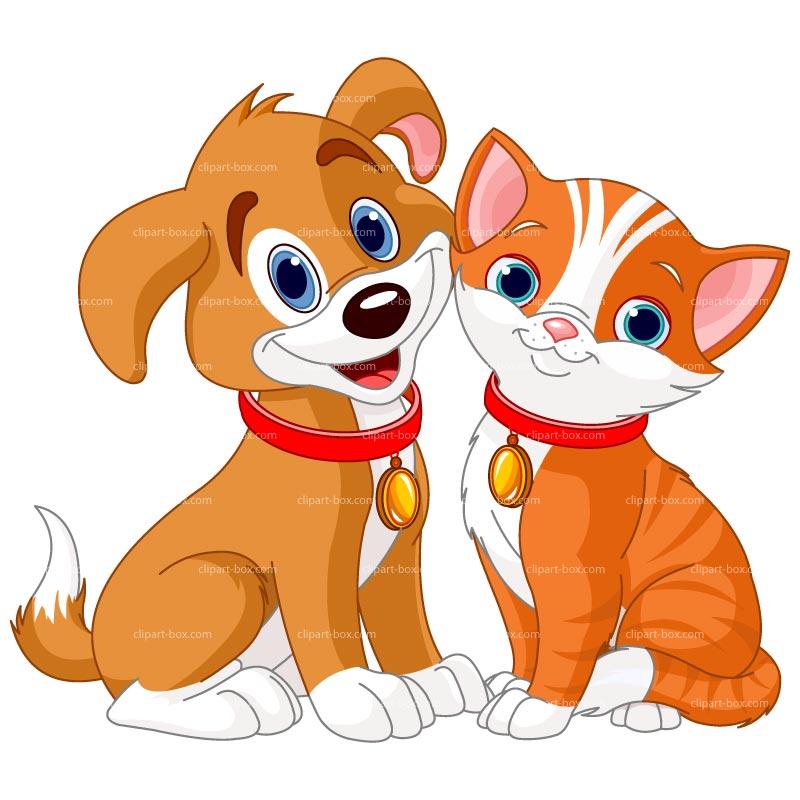 Clipart Cat Dog.
