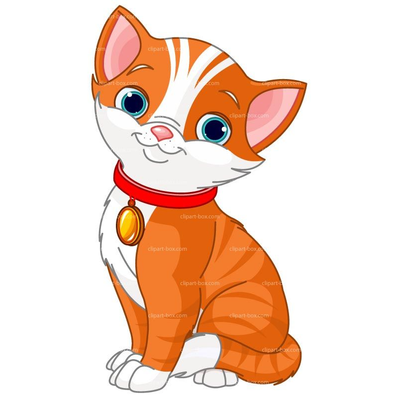 CLIPART ORANGE CAT.