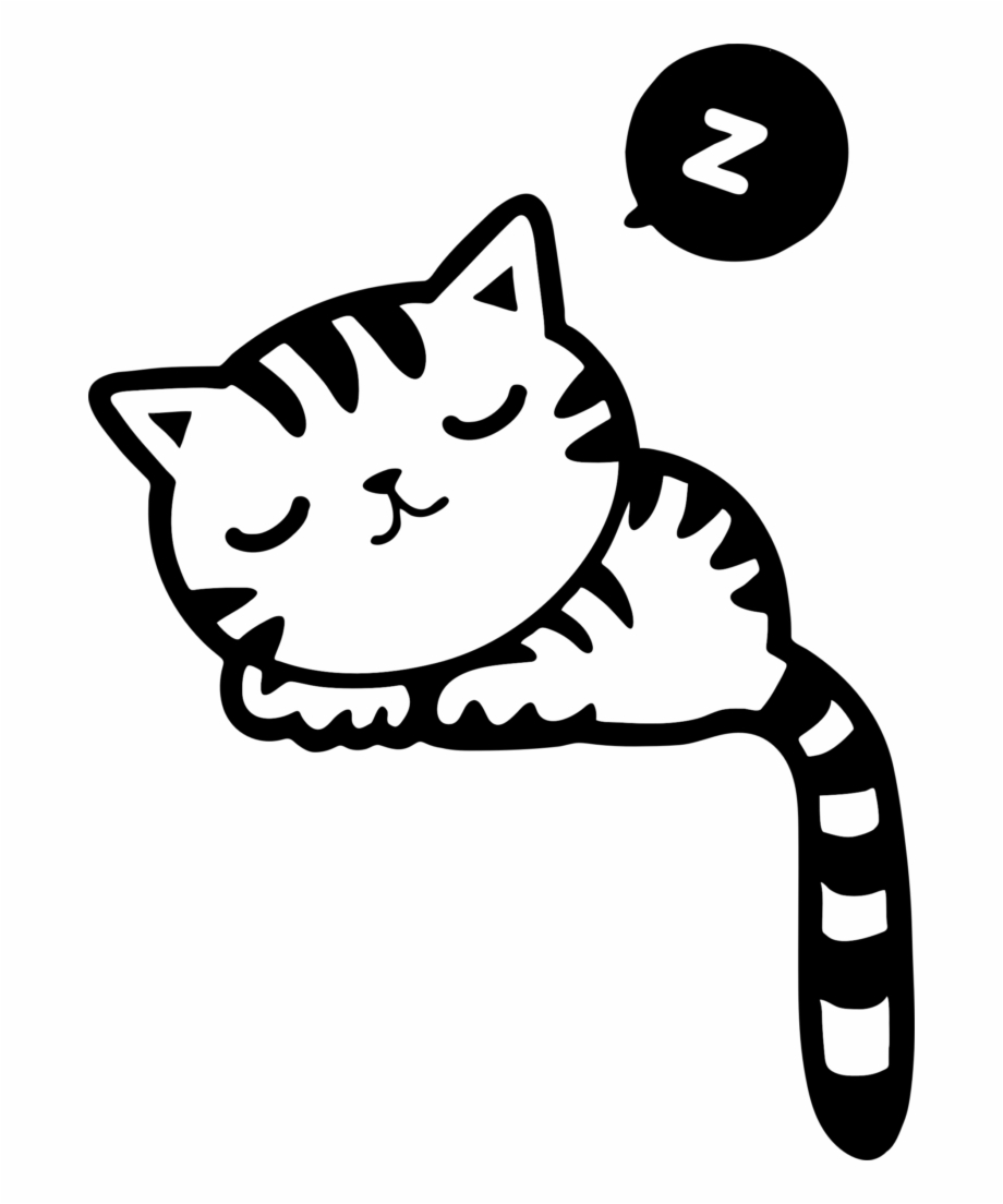 Sleeping Kitty Clipart Of A Cat.