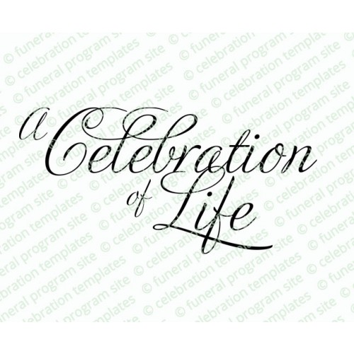 A Celebration Of Life Clipart.