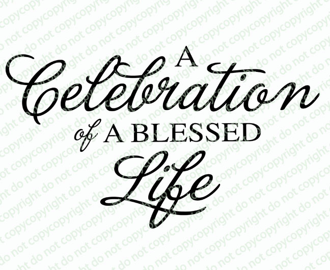 a celebration of life clipart