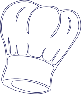 Outlined Chef Hat clip art.