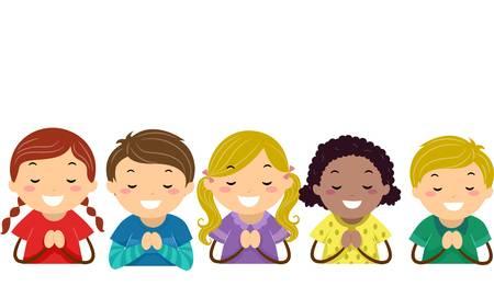479 Child Praying free clipart.