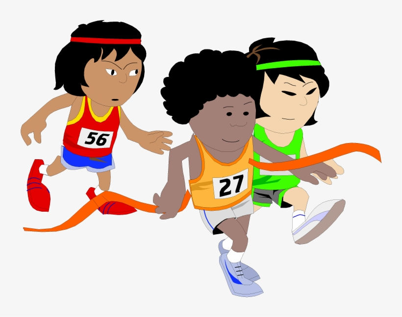 Children Running Clipart.