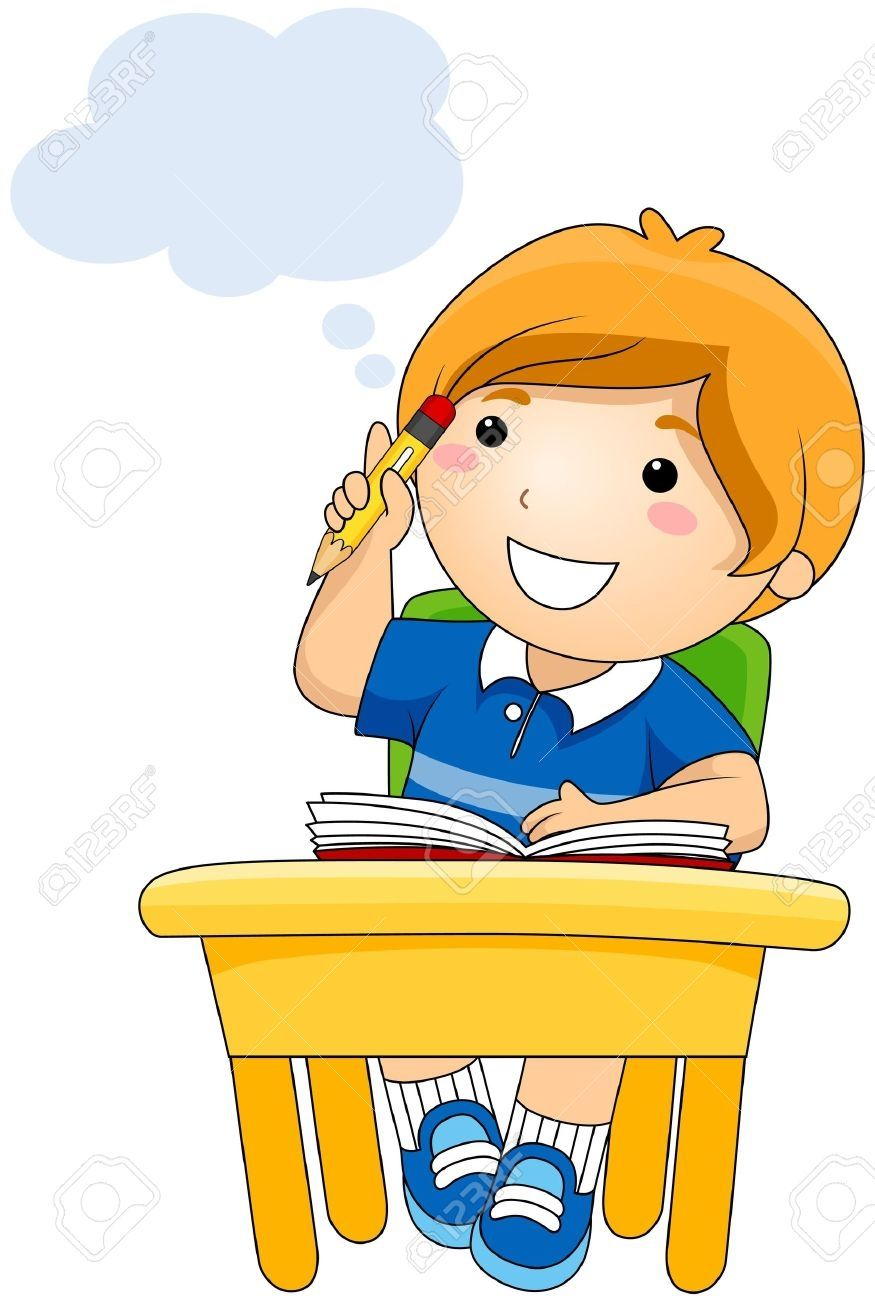 Boy Thinking (clipart.