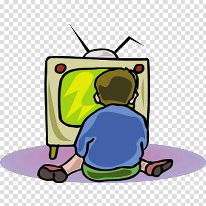 Man sitting on floor while watching TV art, , Children watch.